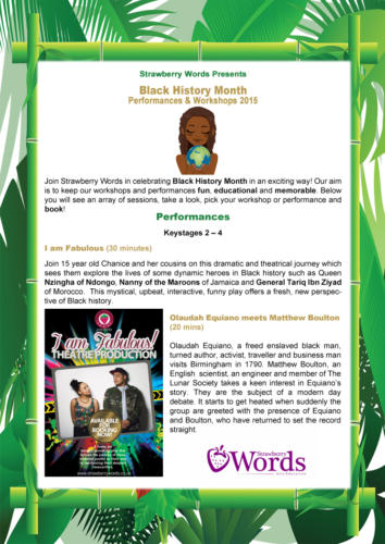 Black History Month Flyer side 1