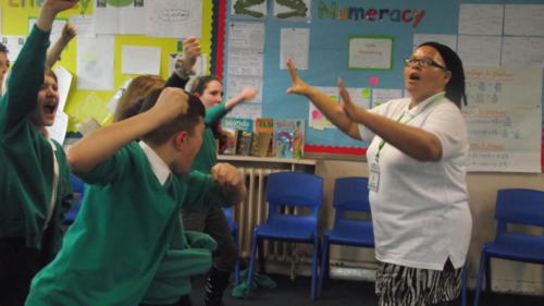 Shakespeare workshop at Albert Bradbeer Primary School
